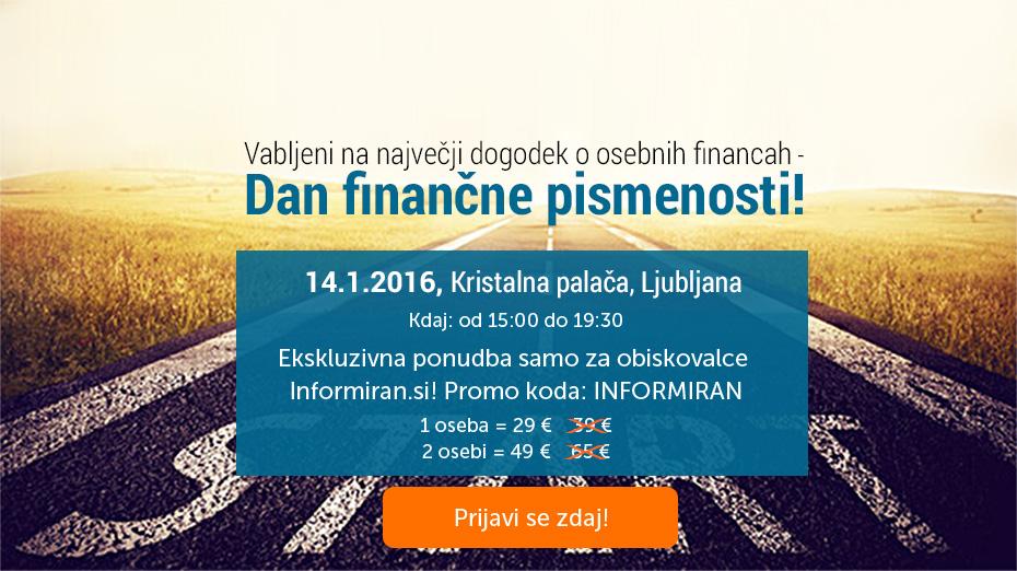 Dan finančne pismenosti. Eksluzivna ponudba za uporabnike Informiran.si!