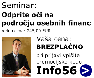Brezplačni seminar s področja osebnih financ - kliknite tu...