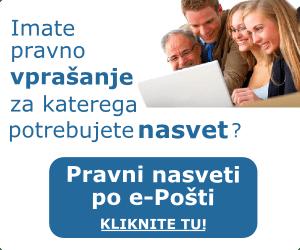 Pravni nasvet po e-Pošti. Kliknite tu...