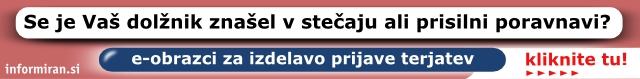 e-obrazci za izdelavo prijave terjatev v stečaju in prisilni poravnavi