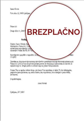 Predlog (prošnja) za prenehanje pogodbe o zaposlitvi s sporazumom