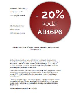 Obvestilo samostojnega podjetnika (s.p.) o uveljavljanju statusa ekonomsko odvisne osebe