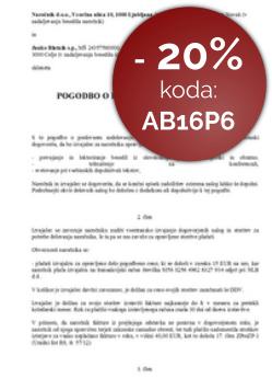 Pogodba o poslovnem sodelovanju (med d.o.o./d.d. in s.p.)