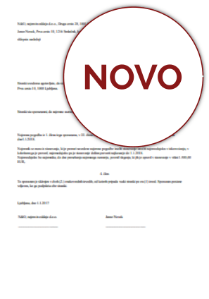 Sporazum o prekinitvi najemnega razmerja za stanovanje