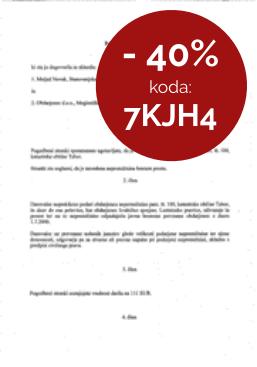 Darilna pogodba za nepremičnino - 40% popust do 12.10.