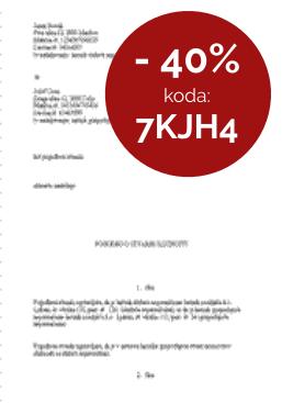 Pogodba o stvarni služnosti - 40% popust do 12.10.