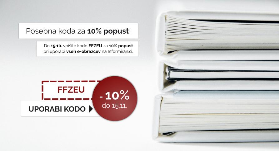 Izkoristite kodo za 10% popust pri uporabi vseh e-obrazev na Informiran.si.