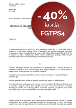 Predlog za odlog izvršitve prenehanja veljavnosti vozniškega dovoljenja