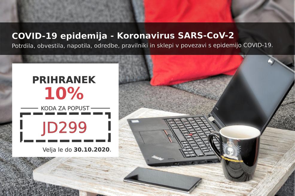 Izkoristite kodo za 10% popust pri pripravi dokumentov v rubriki COVID-19 epidemija - Koronavirus SARS-CoV-2