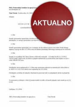 Sporazum o denarnem nadomestilu (odškodnini) za neizkoriščen dopust ob prenehanju delovnega razmerja