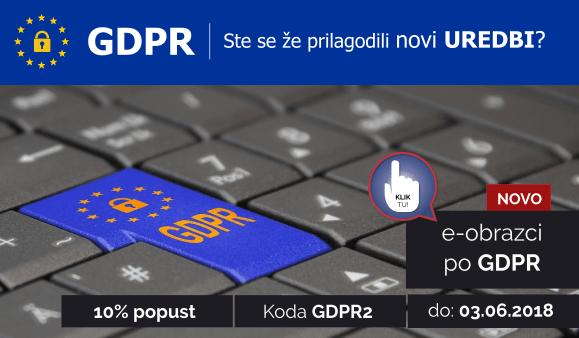 GDPR - Ste se že prilagodili novi UREDBI? Koda GDPR2 za 10% popust do 03.06.2018.